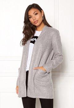 Jacqueline de Yong Evita Jacket OTW Light Grey Melang Bubbleroom.no