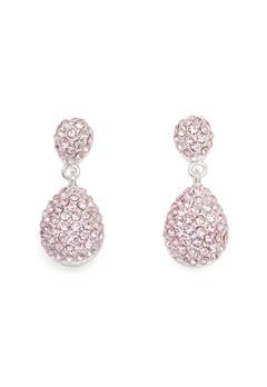 SNÖ of Sweden Fair Drop Pendant Ear Silver/Light Pink Bubbleroom.no