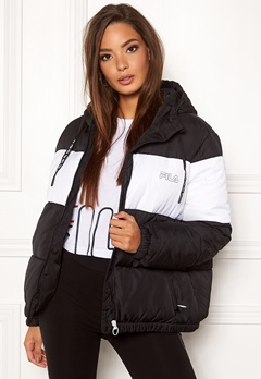 FILA Addy Oversized Paddes Jacket E09 Black-bright whi Bubbleroom.no