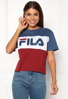 FILA Allison Tee Ensign Blue Iris Bubbleroom.no