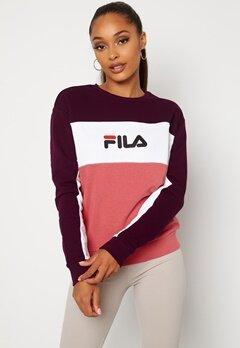 FILA Amina Blocked Crew Sweat B449 Rose,WB, BW Bubbleroom.no