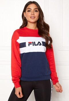 FILA Angela Crew Sweat Bright White Bubbleroom.no