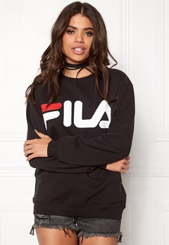 FILA Basic Classic Logo Sweat Black Bubbleroom.no