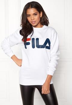FILA Basic Classic Logo Sweat Bright White Bubbleroom.no