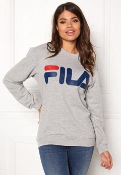 FILA Basic Classic Logo Sweat Light Grey Bubbleroom.no