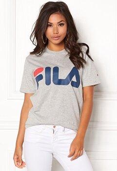 FILA Basic Classic Logo Tee Light Grey Melange Bubbleroom.no