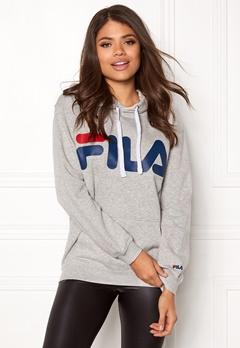 FILA Classic Logo Hood Kangaro Light Grey Melange Bubbleroom.no