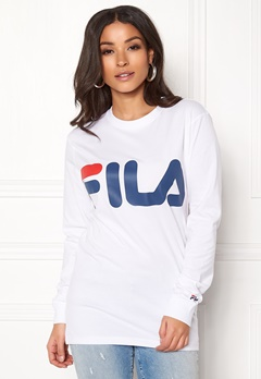 FILA Classic Logo Long Sleeve Bright White Bubbleroom.no