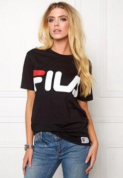 FILA Classic Logo Tee Black Bubbleroom.no
