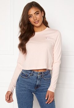 FILA Eaven Cropped LS Shirt A643 English Rose Bubbleroom.no