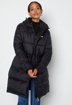 FILA Embla Long Puffer Jacket Black bubbleroom.no