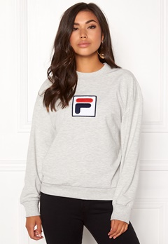 FILA Erika Crew Sweat Light Grey Melange Bubbleroom.no