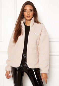 FILA Hajar Sherpa Fleece Jacket A032 whitegap gray Bubbleroom.no
