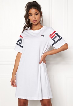 FILA Steph Tee Dress Bright White Bubbleroom.no
