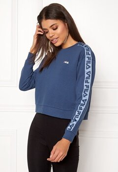 FILA Tamarr Crew Sweat Ensign Blue Bubbleroom.no