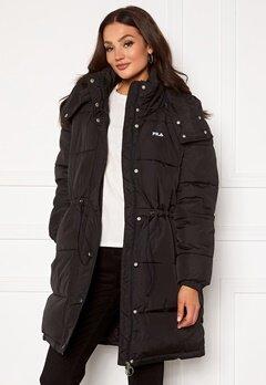 FILA Tender Long Puffer Jacket 002 black Bubbleroom.no
