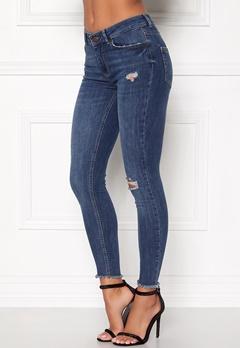 Pieces Five Delly Cropped Jeans Medium Blue Denim Bubbleroom.no