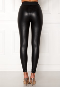 ONLY Flirt PU Leggings Ankel Black Bubbleroom.no