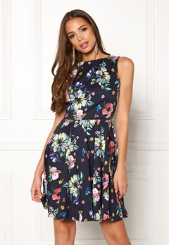 Closet London Floral Sleeveless Dress Navy Bubbleroom.no