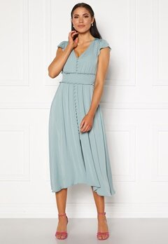 FOREVER NEW Amayah Button Front Midi Dress Jade Stone Bubbleroom.no