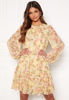 FOREVER NEW Katie Tiered Skater Dress Vintage Lemon Floral Bubbleroom.no