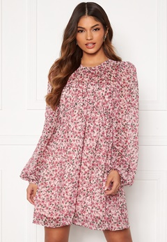 FOREVER NEW Michelle Ruched Tunic Blush Floral Bubbleroom.no