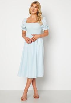 FOREVER NEW Puff Sleeve Dress Eggshell Blue Bubbleroom.no