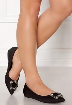 Francesco Milano Ballerina Raso Shoes Nero Bubbleroom.no