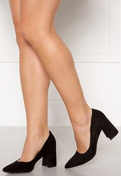 Francesco Milano Block Heel Pump Nero Bubbleroom.no