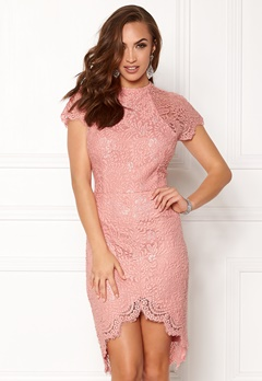 Girl In Mind Francis Lace Dress Mauve Bubbleroom.no
