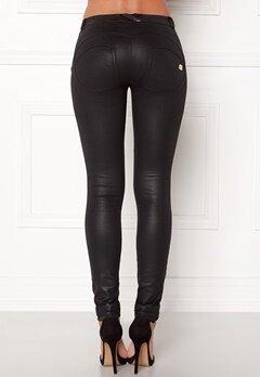 FREDDY Skinny Shaping RW Legging Coated Black New Sty Bubbleroom.no