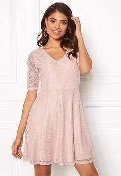 VILA Frej 2/4 Short Dress Peach Blush Bubbleroom.no