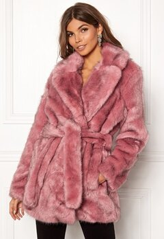 SELECTED FEMME Fury Faux Fur Earth Red Bubbleroom.no