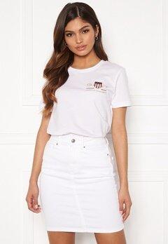 GANT Archive Shield SS T- Shirt 110 White Bubbleroom.no