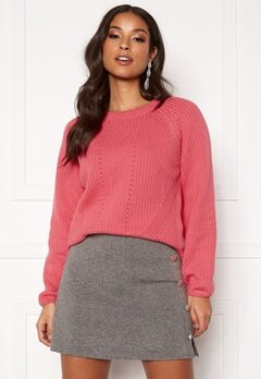 GANT Detail Knitted Crew 665 Rapture Rose Bubbleroom.no