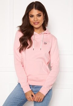 GANT Gant Shield Sweat Hoodie 614 Preppy Pink Bubbleroom.no