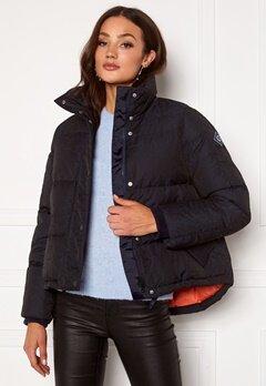 GANT Jacquard Gant Word Down Jacket 433 Evening Blue Bubbleroom.no
