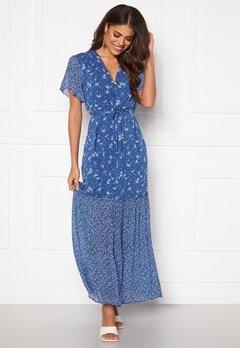 GANT Mix Print Chiffon Dress 449 Bright Cobalt Bubbleroom.no