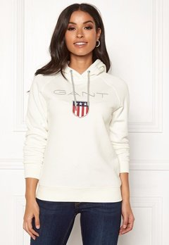 GANT Gant Shield Sweat Hoodie 113 Eggshell Bubbleroom.no