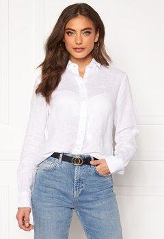 GANT The Linen Chambray Shirt 110 White Bubbleroom.no
