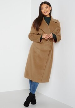 GANT Wool Blend Belted Coat 213 Warm Khaki bubbleroom.no