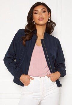 GANT Zip Up Blouson Jacket Evening Blue Bubbleroom.no
