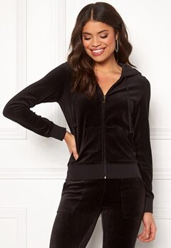 Juicy Couture Gems Crest Velour Robertson Jacket Pitch Black Bubbleroom.no