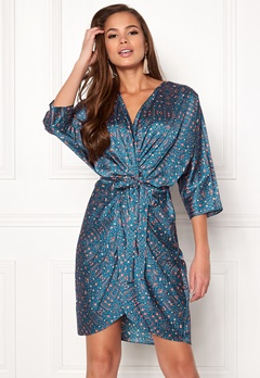 Twist & Tango Georgina Dress Blue Flower Print Bubbleroom.no