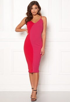 Girl In Mind Bala Contrast Cami Dress Red/Pink Bubbleroom.no