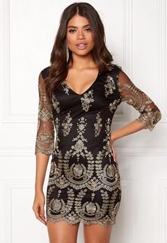 Girl In Mind Embroidered Mini Dress Black Bubbleroom.no