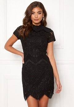 Girl In Mind Emilia Lace Mini Dress Black Bubbleroom.no