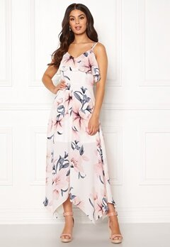 Girl In Mind Evie Floral Midi Dress White Bubbleroom.no