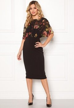 Girl In Mind Felicity Print Midi Dress Blk Print Bubbleroom.no