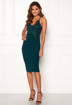 Girl In Mind Florence Sequin Dress Green Bubbleroom.no